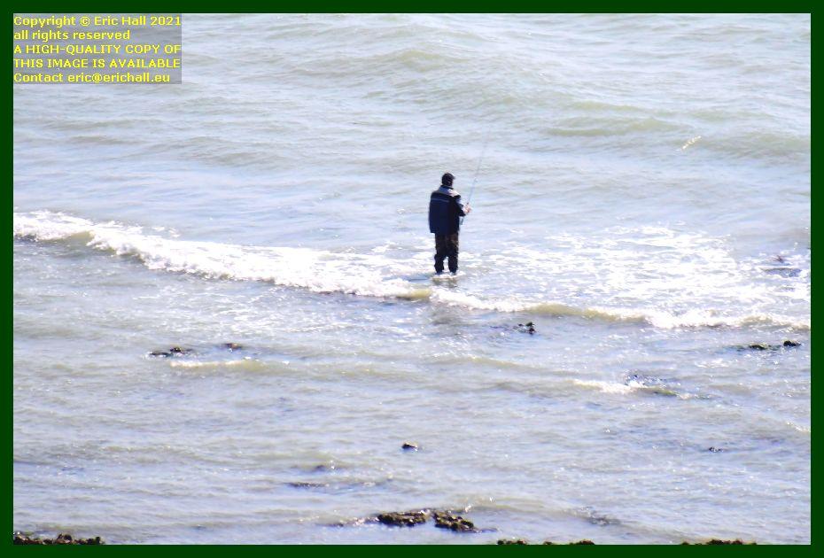 man fishing pointe du roc Granville Manche Normandy France Eric Hall