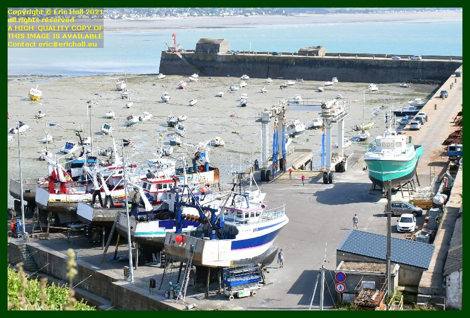 trawler trafalgar charlevy chantier naval port de Granville harbour Manche Normandy France Eric Hall