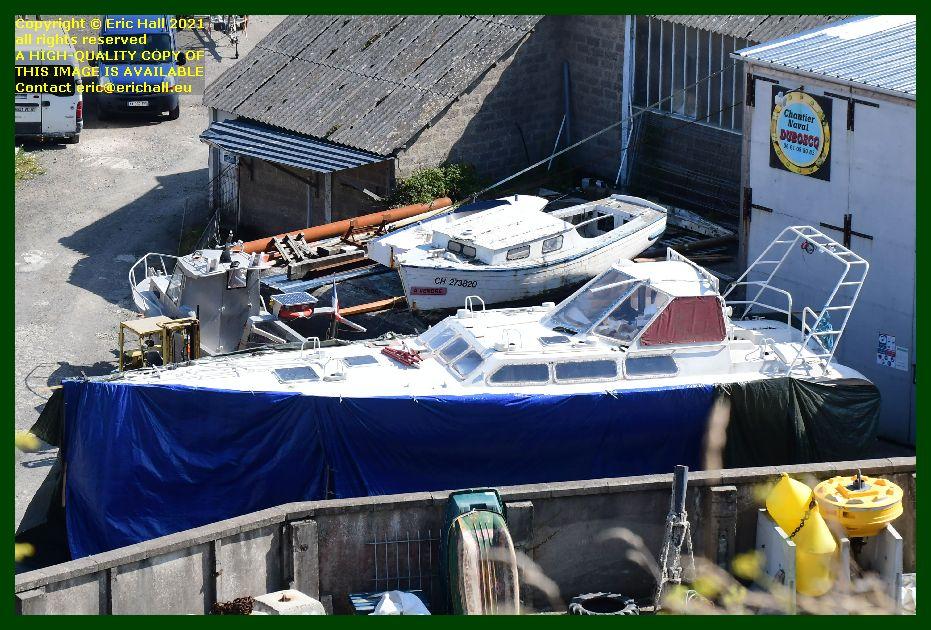 yacht chantier naval port de Granville harbour Manche Normandy France Eric Hall