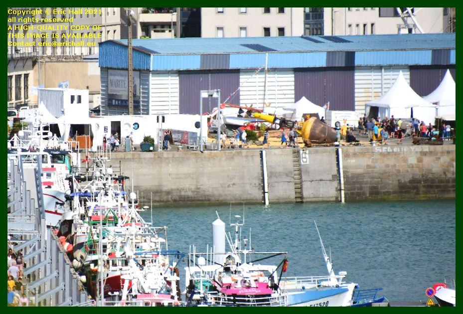 crowds festival of working sailboats port de Granville harbour Manche Normandy France Eric Hall