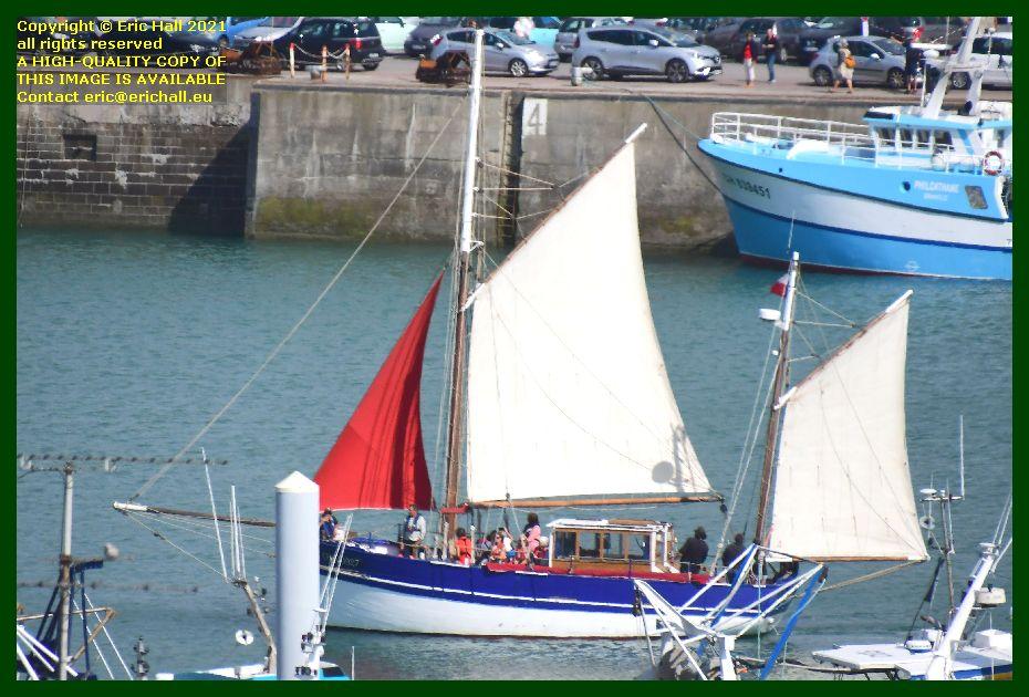 Croix du Sud 3 sailing yacht port de Granville harbour Manche Normandy France Eric Hall