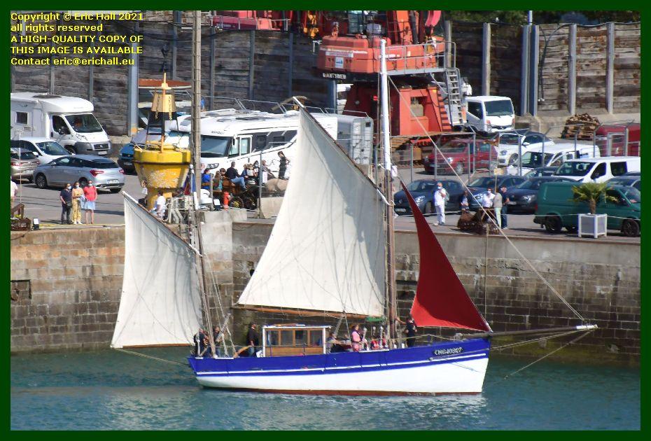 Croix du Sud 3 sailing yachr port de Granville harbour Manche Normandy France Eric Hall