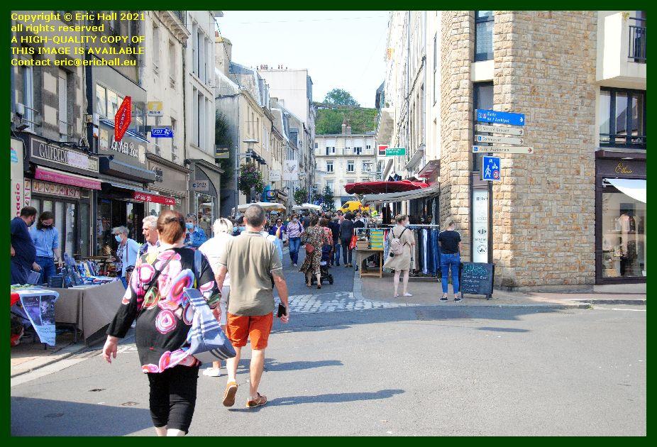 braderie rue paul poirier Granville Manche Normandy France Eric Hall