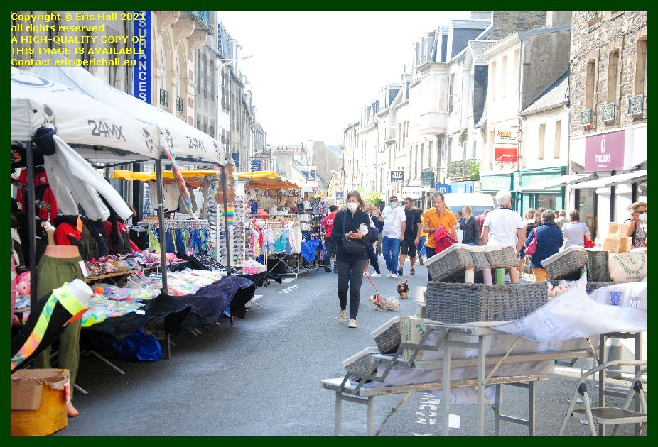 braderie rue couraye Granville Manche Normandy France Eric Hall