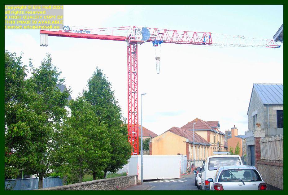 crane rue st paul rue victor hugo Granville Manche Normandy France Eric Hall