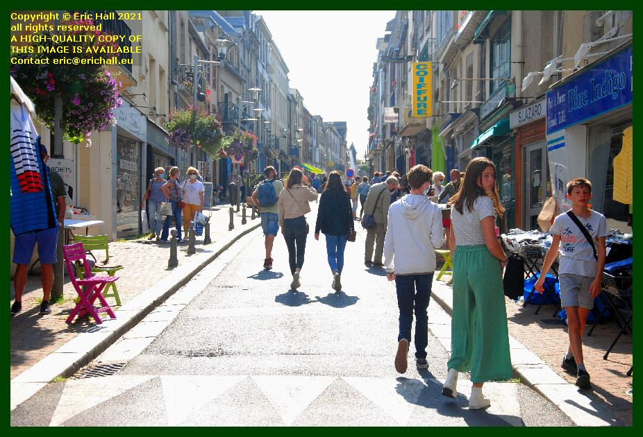 rue des juifs closed for braderie Granville Manche Normandy France Eric Hall