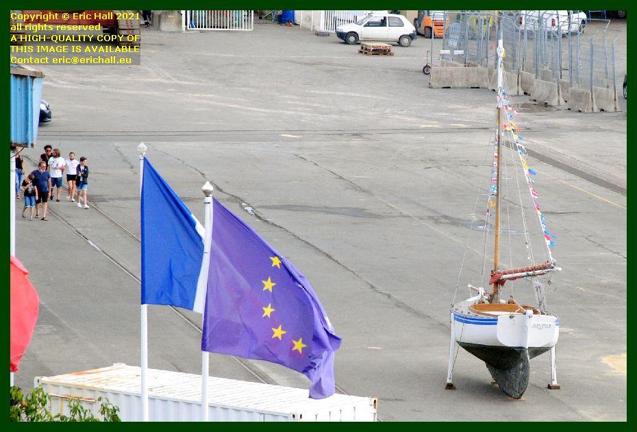 sailing yacht quayside port de Granville harbour Manche Normandy France Eric Hall