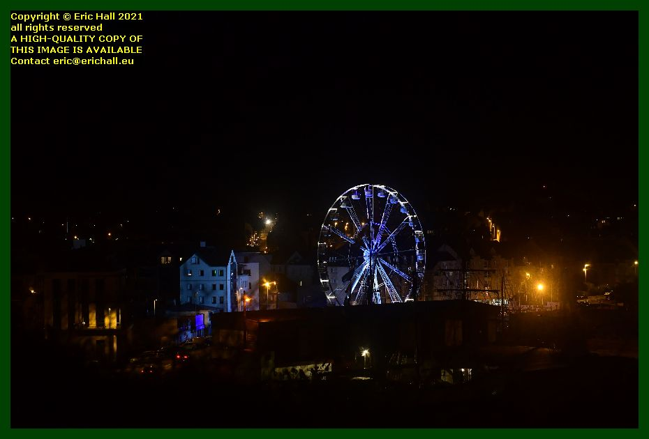 big wheel at night place albert godal Granville Manche Normandy France Eric Hall