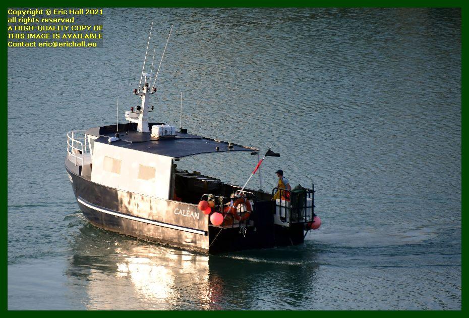 fishing boat calean leaving port de Granville harbour Manche Normandy France Eric Hall