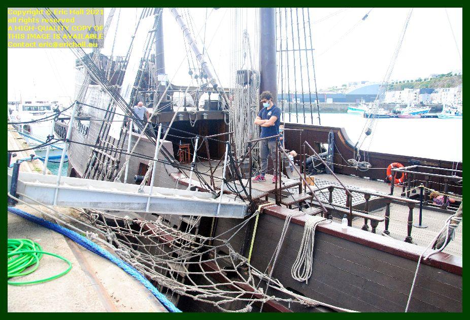 galeon andalucia port de Granville harbour Manche Normandy France Eric Hall