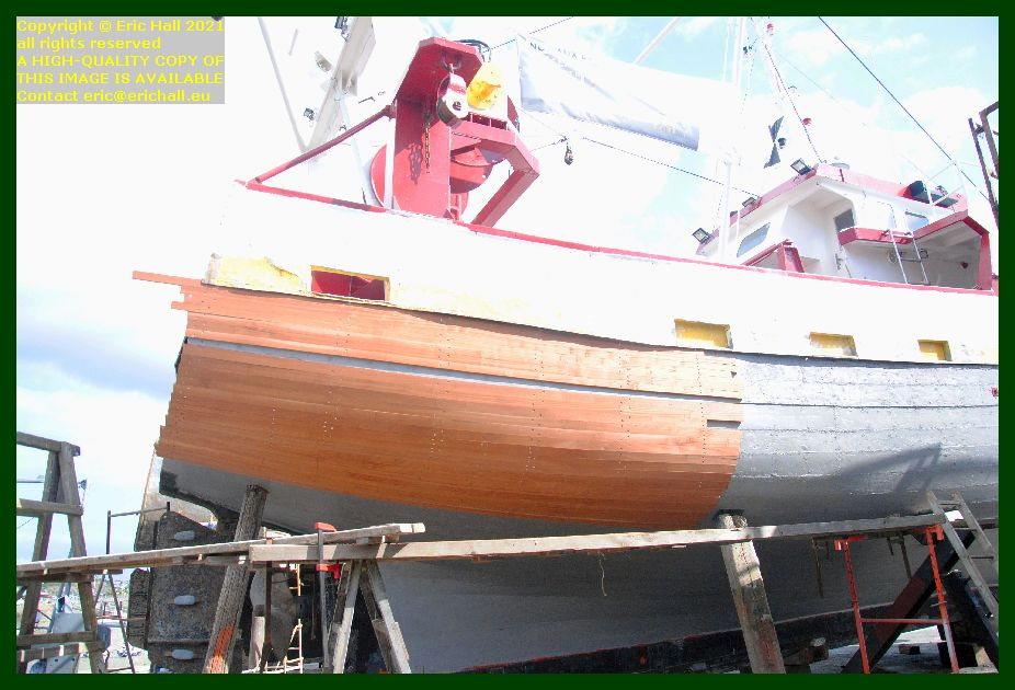 retimbering hull peccavi chantier naval port de Granville harbour Manche Normandy France Eric Hall
