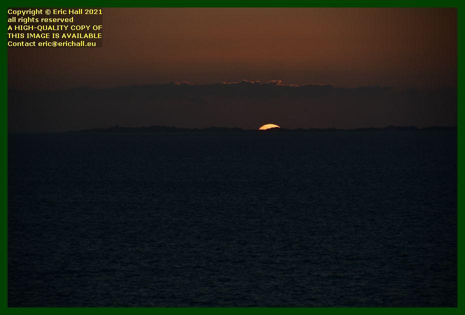 sunset ile de chausey baie de Granville Manche Normandy France Eric Hall