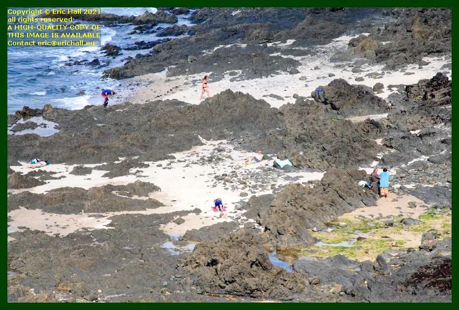 people on beach rue du nord Granville Manche Normandy France Eric Hall photo September 2021