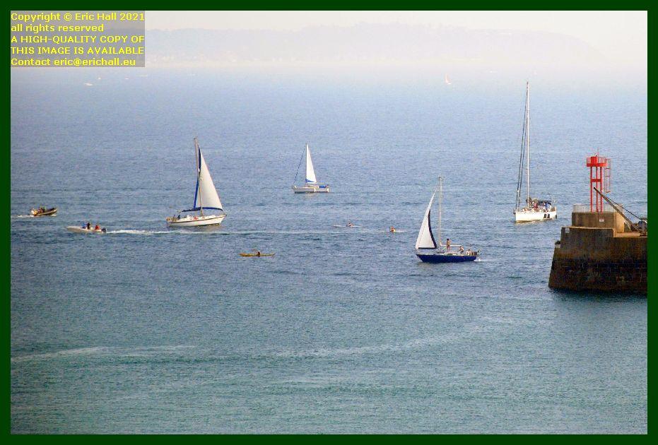 boats entrance to port de Granville harbour Manche Normandy France Eric Hall photo September 2021