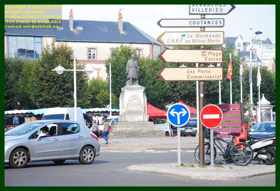place general de gaulle Granville Manche Normandy France Eric Hall photo September 2021