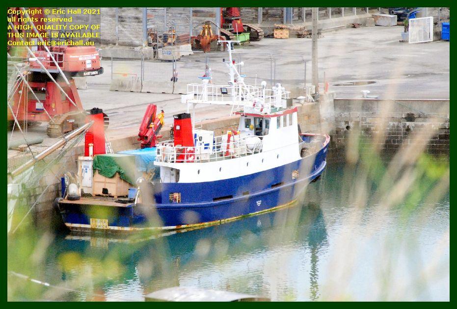 thora unloading port de Granville harbour Manche Normandy France Eric Hall photo September 2021