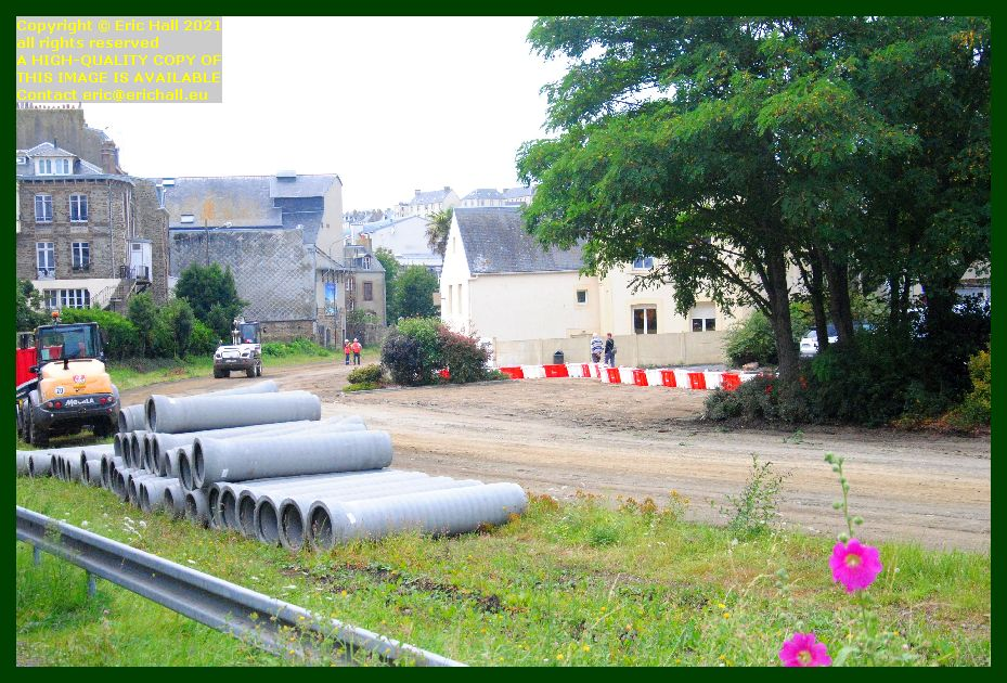 roadworks uprooting railway line rue du boscq Granville Manche Normandy France Eric Hall photo September 2021