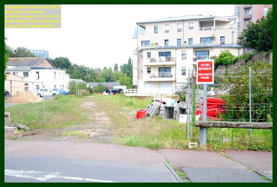 uprooting railway line boulevard louis dior Granville Manche Normandy France Eric Hall photo September 2021
