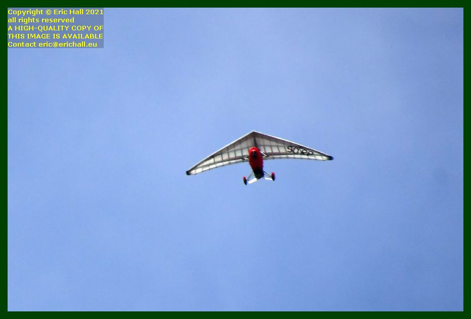 powered hang glider pointe du roc Granville Manche Normandy France Eric Hall photo September 2021