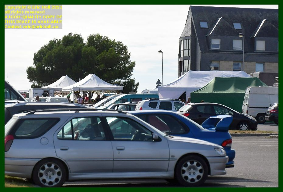 stalls and marquees parking boulevard vaufleury Granville Manche Normandy France Eric Hall photo September 2021