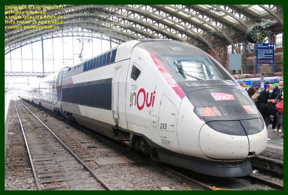 TGV INOUI 213 TGV Reseau Duplex gare de lille flanders railway station France Eric Hall photo September 2021