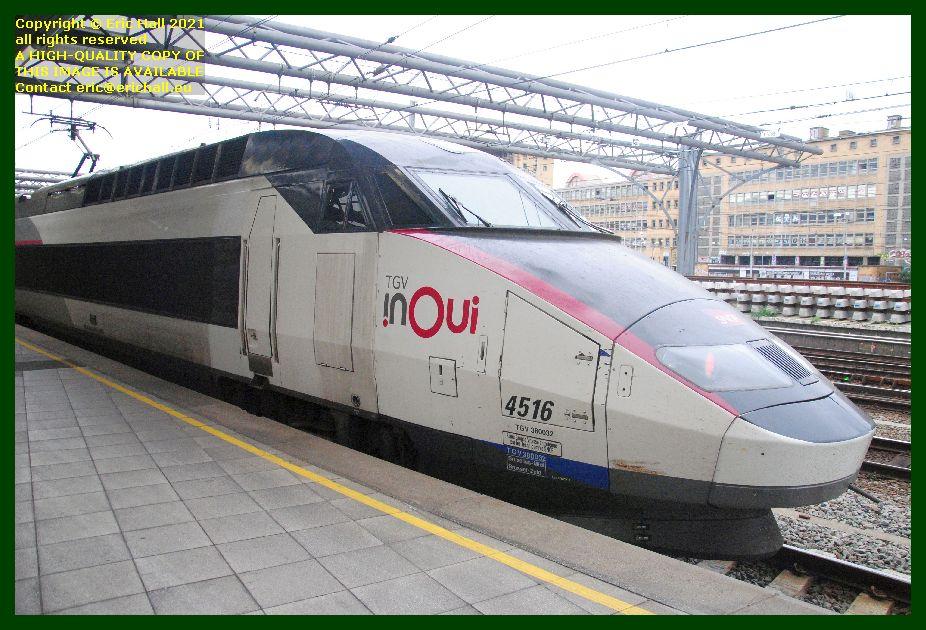 TGV Réseau 38000 tri-volt 4516 PBA gare du midi brussels Belgium Eric Hall photo September 2021