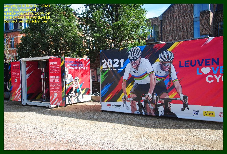 stationary cycling machines brusselsestraat Leuven Belgium Eric Hall photo September 2021