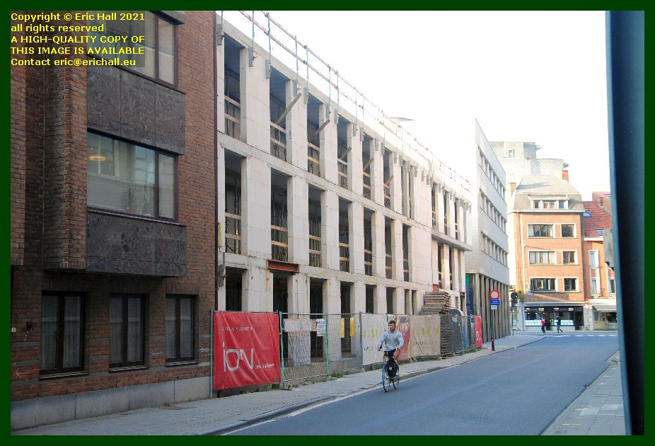 building site kapucijnenvoer Leuven Belgium photo Eric Hall September 2021