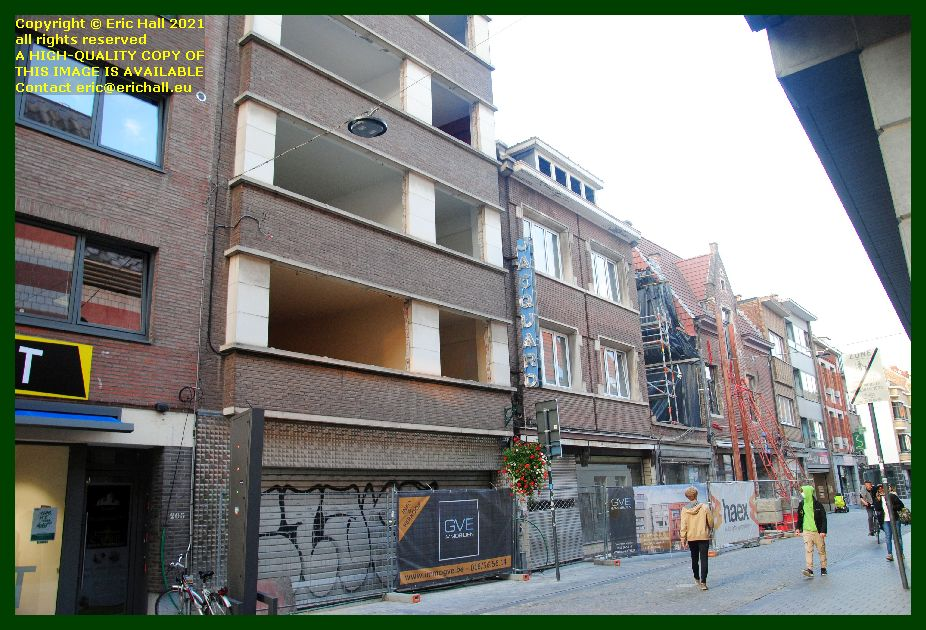 building site diestsestraat Leuven Belgium photo Eric Hall September 2021