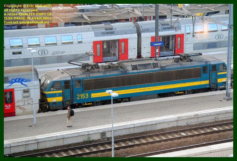 class 21 electric locomotive gare de Leuven railway station Belgium photo Eric Hall September 2021