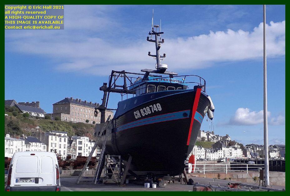 le pescadore chantier naval port de Granville harbour Manche Normandy France Eric Hall photo September 2021
