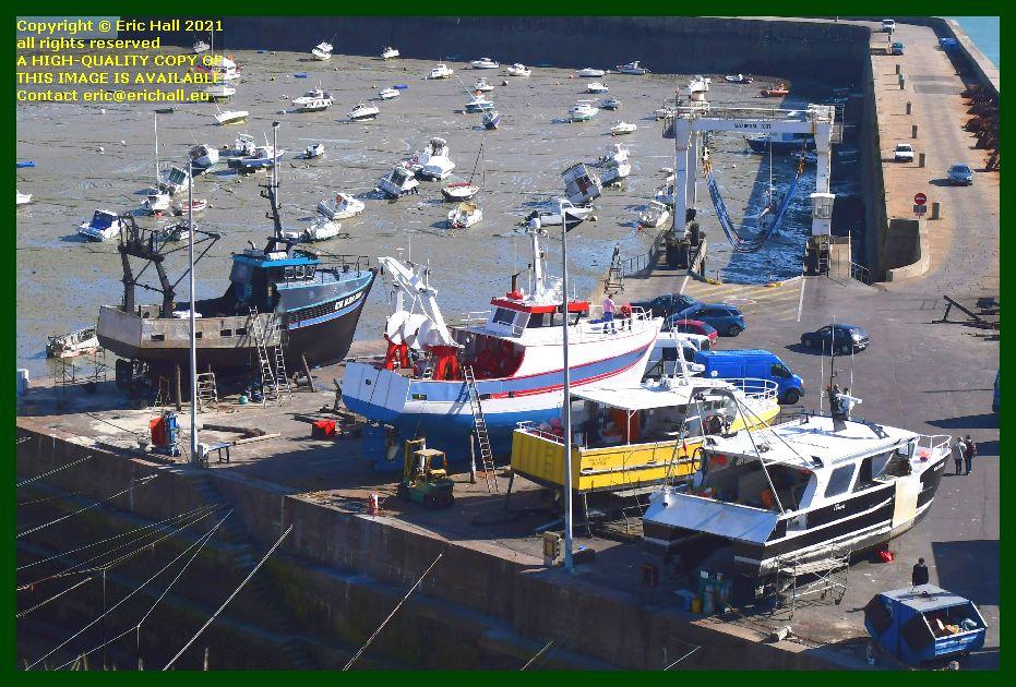 le pescadore, catherine philippe cherie d'amour l'omerta chantier naval port de Granville harbour Manche Normandy France Eric Hall photo September 2021