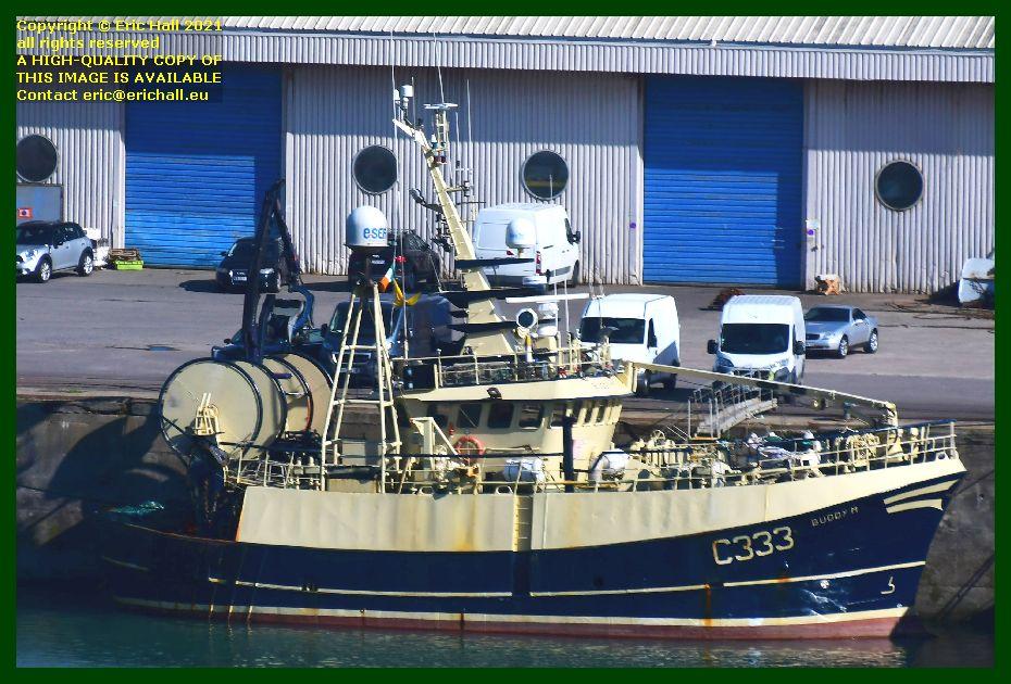 trawler buddy m port de Granville harbour Manche Normandy France photo Eric Hall September 2021