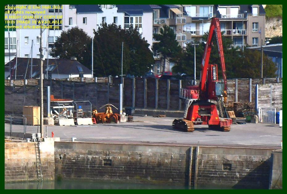 crane quayside port de Granville harbour Manche Normandy France photo Eric Hall September 2021