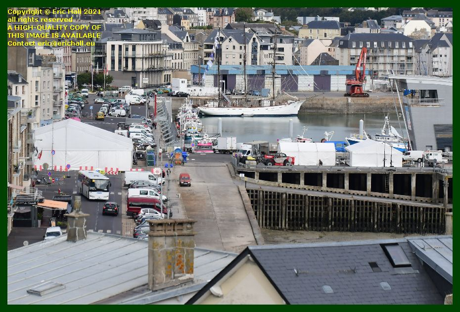 marquees chicane rue du port Granville Manche Normandy France Eric Hall photo September 2021