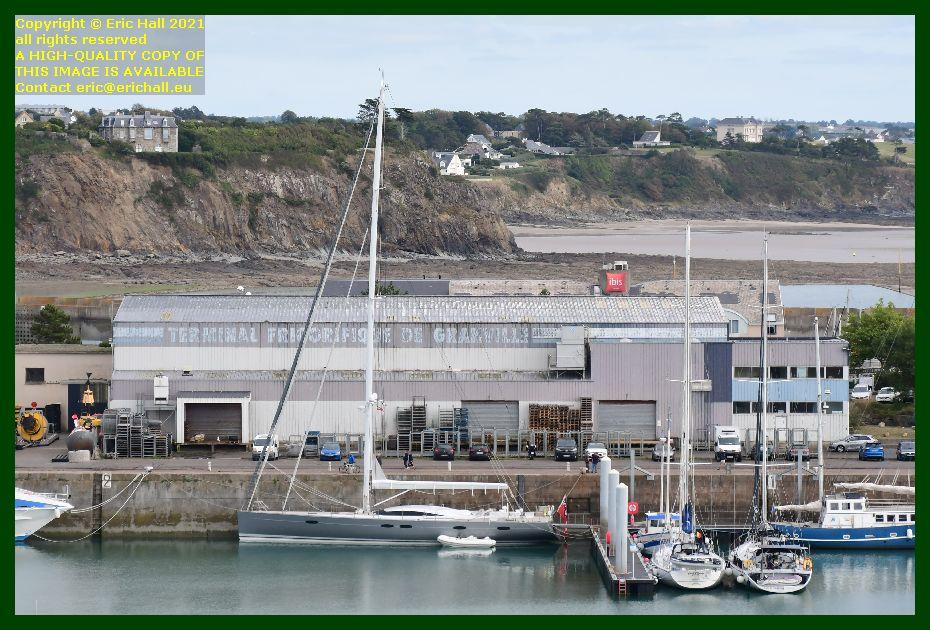 aztec lady capo di fora spirit of conrad mini y port de Granville harbour Manche Normandy France Eric Hall photo September 2021