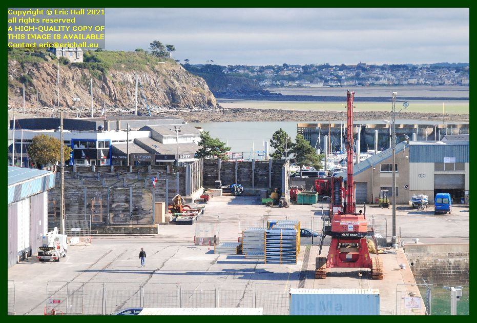 freight on quayside port de Granville harbour Manche Normandy France Eric Hall photo September 2021