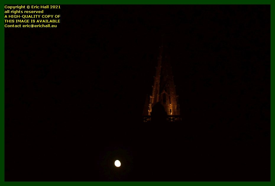moonrise eglise notre dame de cap lihou Granville Manche Normandy France Eric Hall photo September 2021