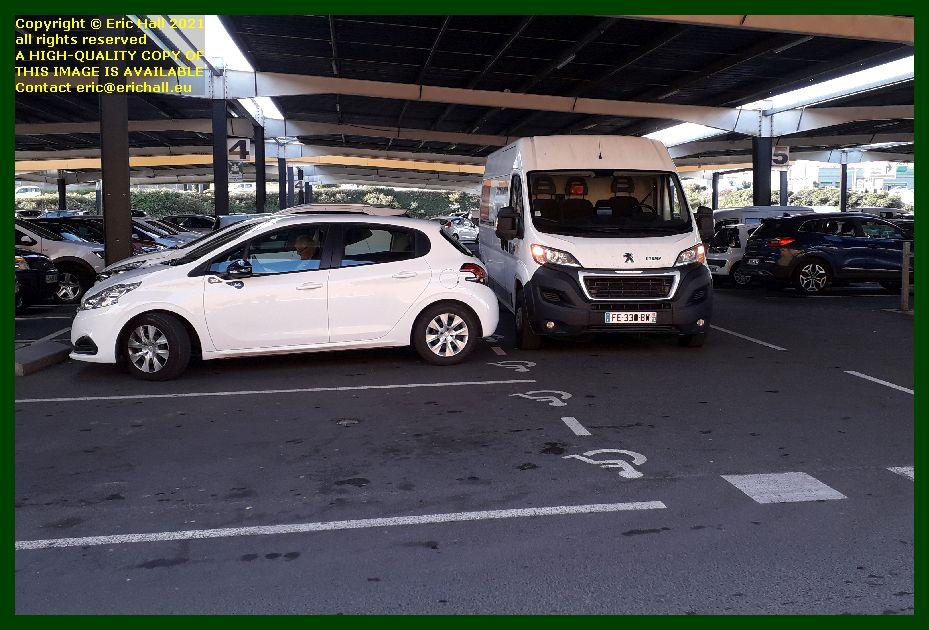 bad parking leclerc hypermarket Granville Manche France photo Eric Hall September 2021