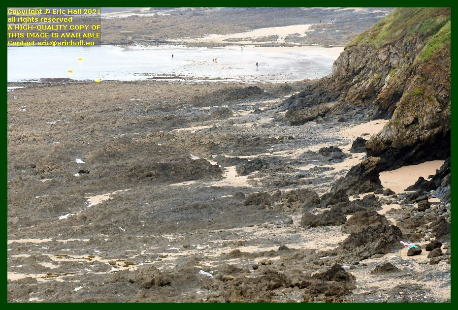 people on beach rue du nord plat gousset Granville Manche Normandy France Eric Hall photo September 2021