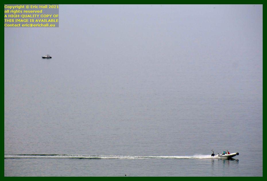 zodiac men fishing baie de Granville Manche Normandy France Eric Hall photo September 2021