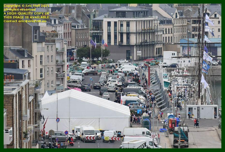 marquee marité rue du port de Granville harbour Manche France photo Eric Hall September 2021