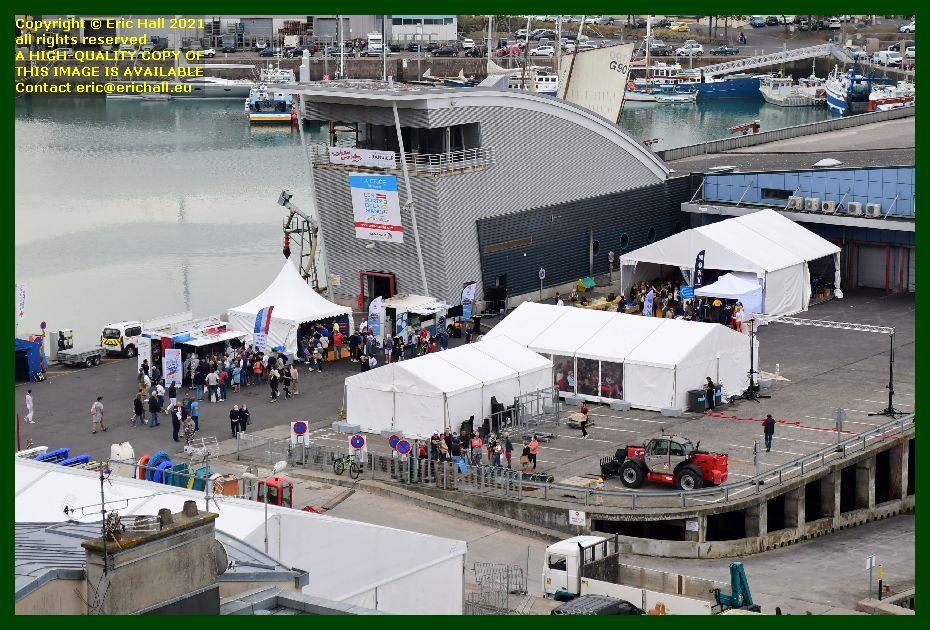 marquees fete des coquilles st jacques port de Granville harbour Manche Normandy France Eric Hall photo September 2021