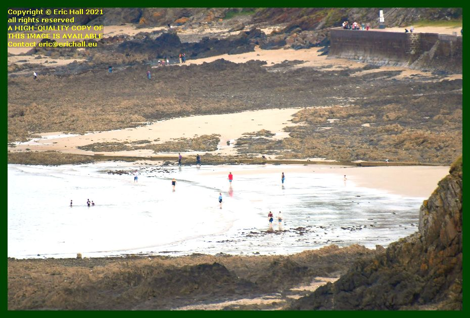 people on beach plat gousset Granville Manche Normandy France Eric Hall photo September 2021