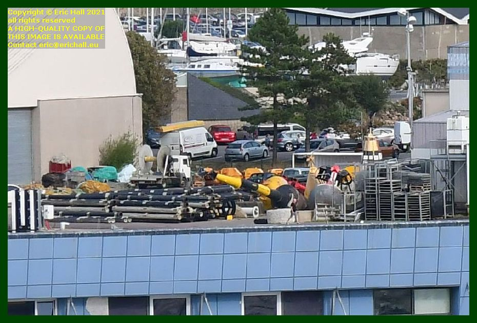 equipment on quayside port de Granville harbour Manche Normandy France Eric Hall photo September 2021