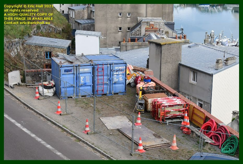 electricians compound boulevard des terreneuviers Granville Manche France photo Eric Hall September 2021