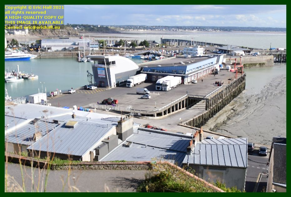 refrigerated lorries fish processing plant port de Granville harbour Manche Normandy France Eric Hall photo September 2021