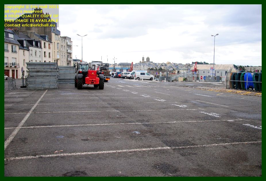removing marquee rue du port Granville Manche Normandy France Eric Hall photo September 2021