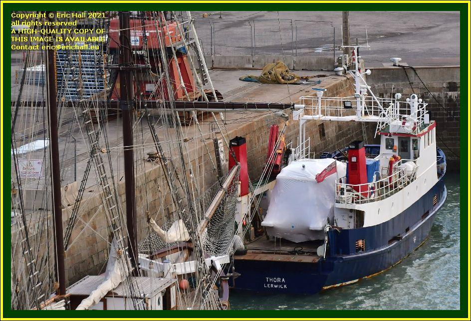 thora port de Granville harbour Manche Normandy France Eric Hall photo September 2021