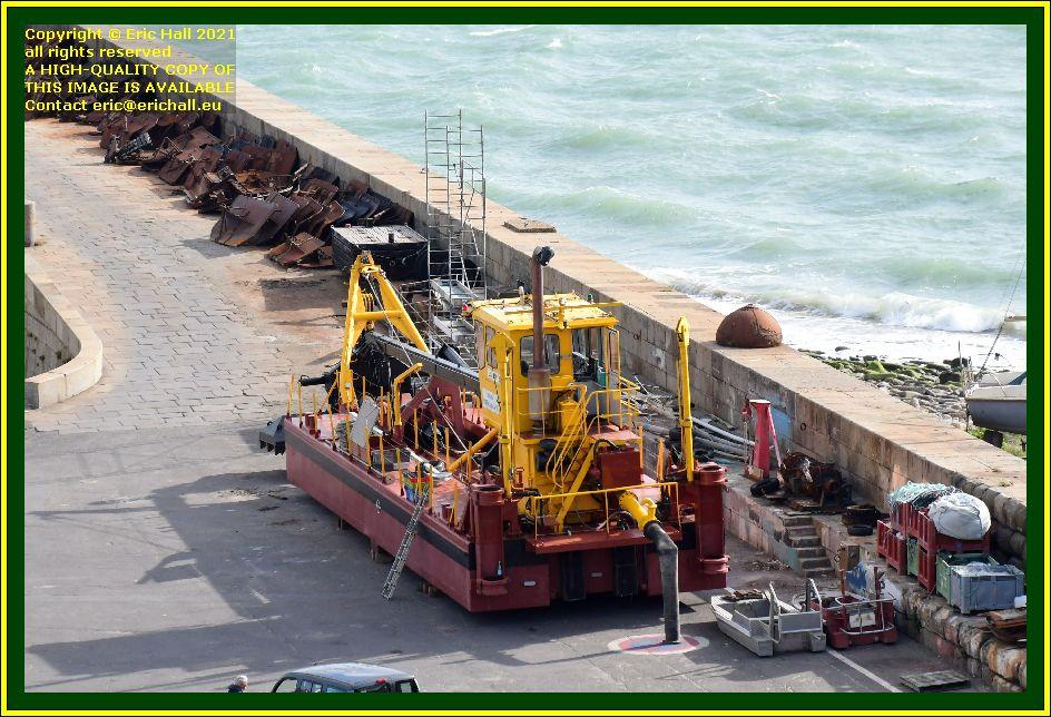 dredger chantier naval port de Granville harbour Manche Normandy France Eric Hall photo September 2021